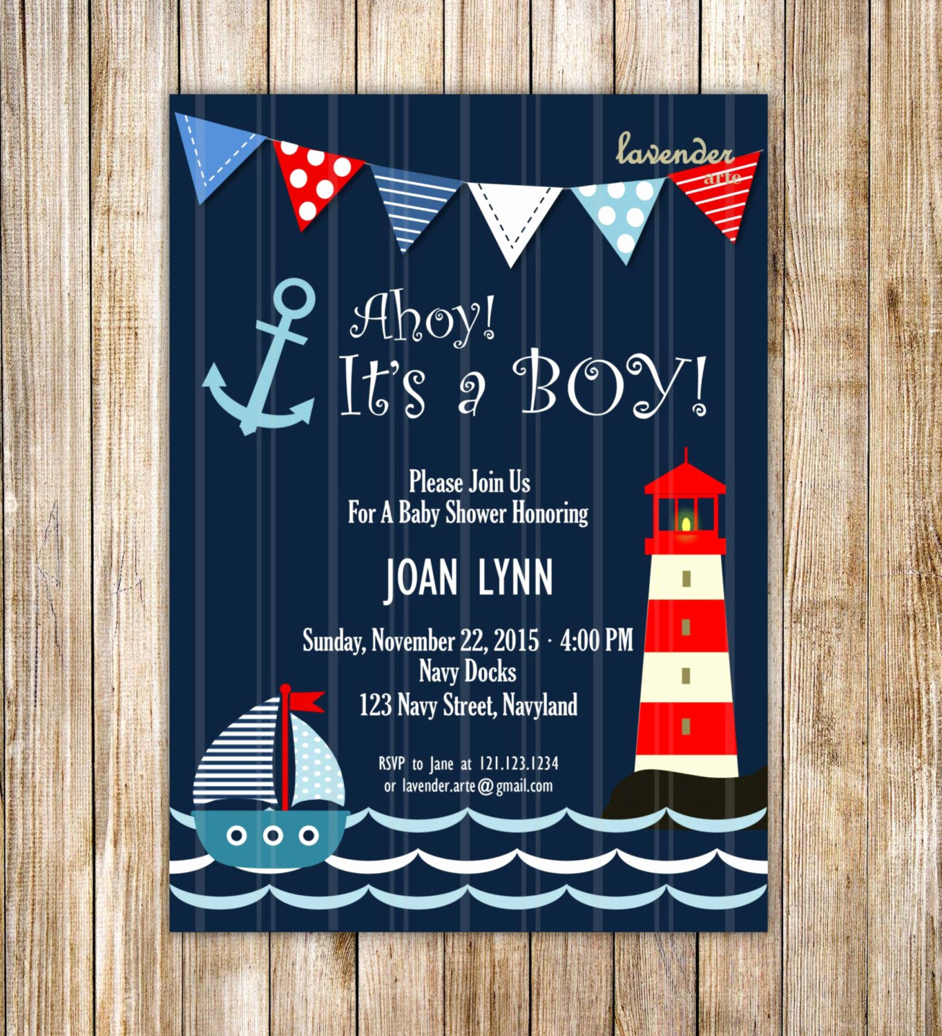 Nautical Baby Shower Invitation Templates Elegant Navy Nautical Baby Shower Invitation Ahoy It S A Boy