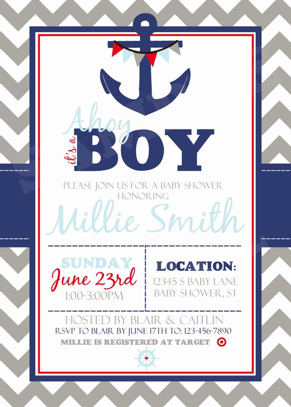 Nautical Baby Shower Invitation Templates Inspirational 87 Best Nautical Baby Shower Ideas Images On Pinterest
