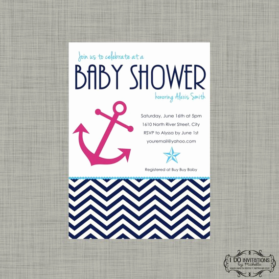 Nautical Baby Shower Invitation Templates Luxury Nautical Baby Shower Invitations Templates