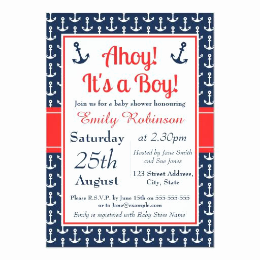 Nautical Baby Shower Invitation Templates New Nautical Baby Shower Invitations