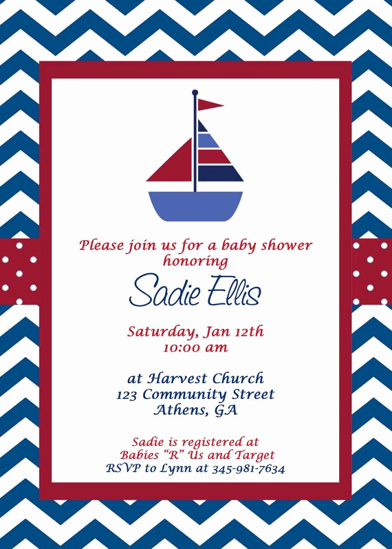 sailboat baby showers