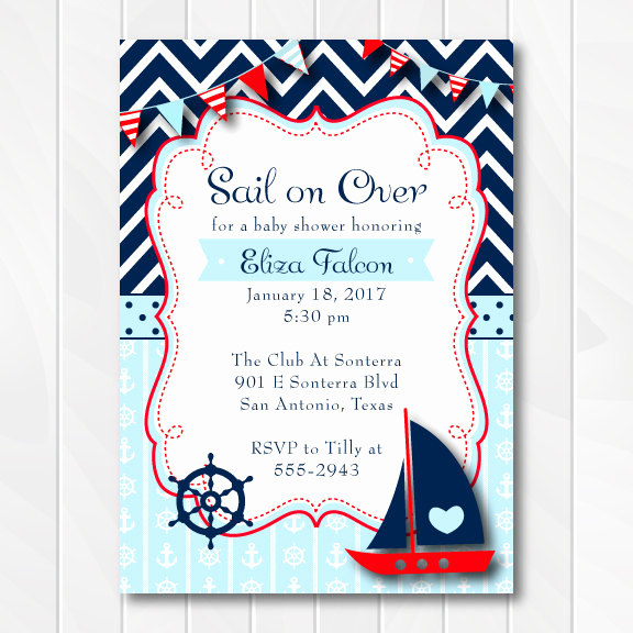 Nautical theme Baby Shower Invitation Awesome Nautical Baby Shower Invitation for Boys Ahoy It S A Boy