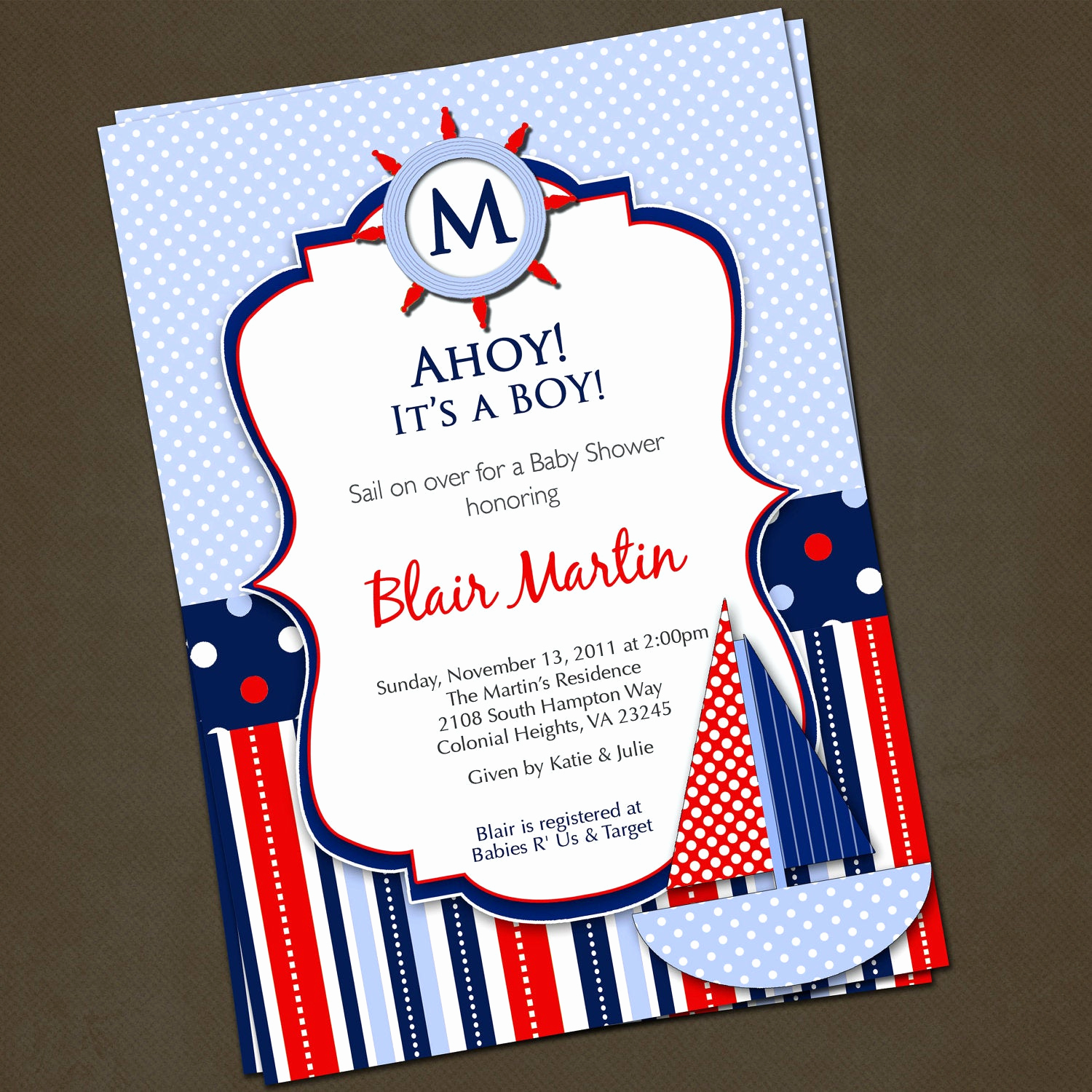 Nautical theme Baby Shower Invitation Awesome Nautical Sailboat Baby Shower Invitations by Pinkskyprintables
