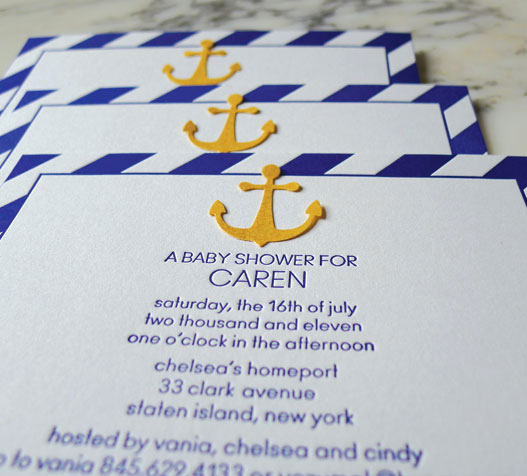 Nautical theme Baby Shower Invitation Elegant Nautical themed Baby Shower Invitations