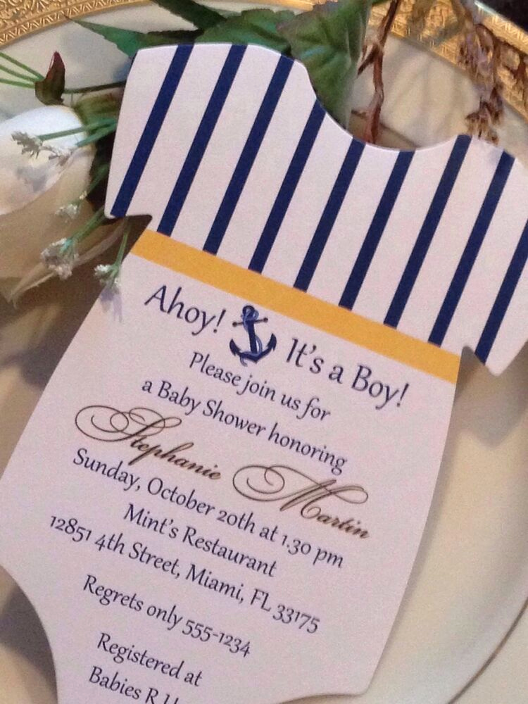 Nautical theme Baby Shower Invitation Lovely Nautical theme Sailing theme Baby Shower Esie