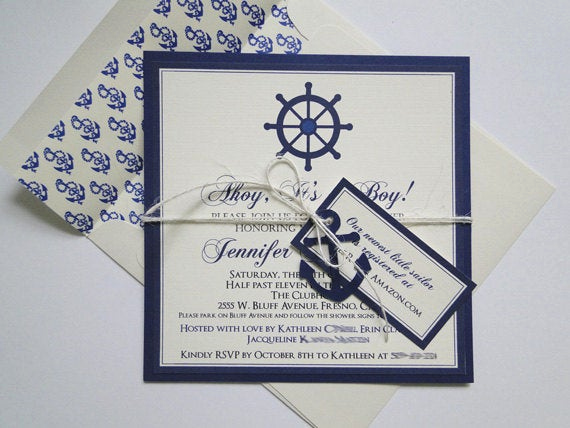 Nautical theme Baby Shower Invitation Luxury Anchor Invitation Baby Shower Invitation Nautical Baby