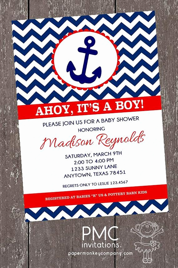 Nautical theme Baby Shower Invitation New 77 Best Images About Sail Away Party Cruise Nautical theme