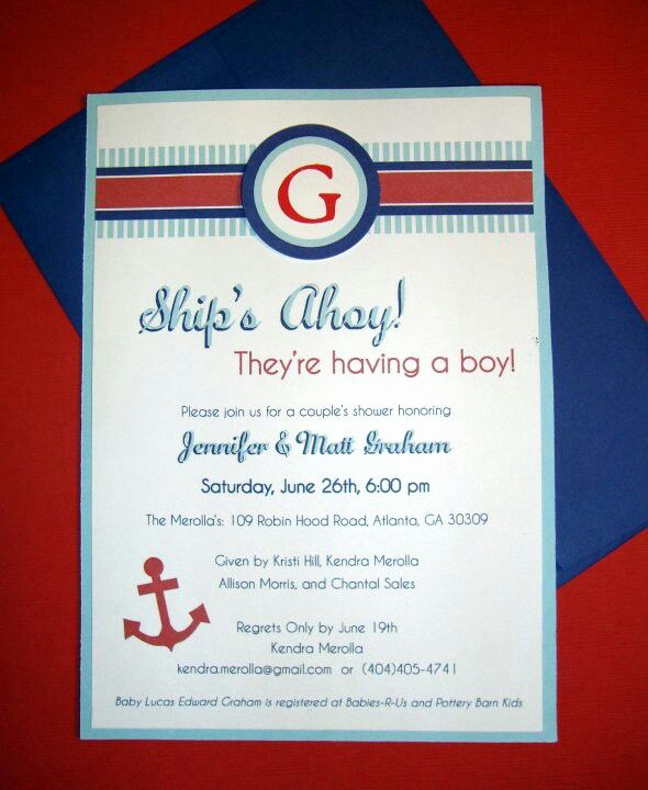 Nautical theme Baby Shower Invitation Unique 30 Best Images About Ahoy Baby On Pinterest