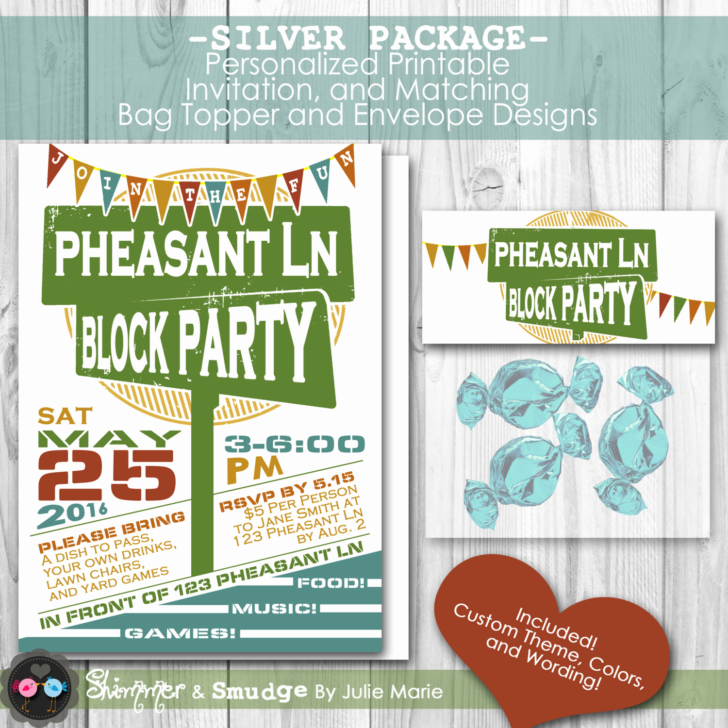 Neighborhood Block Party Invitation Awesome Neighborhood Block Party Personalized Printable Invitation