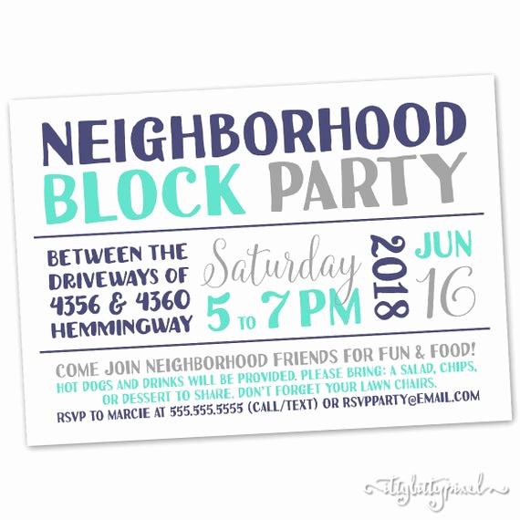 Neighborhood Block Party Invitation Beautiful Neighborhood Block Party Invitation Announcement Invite Card