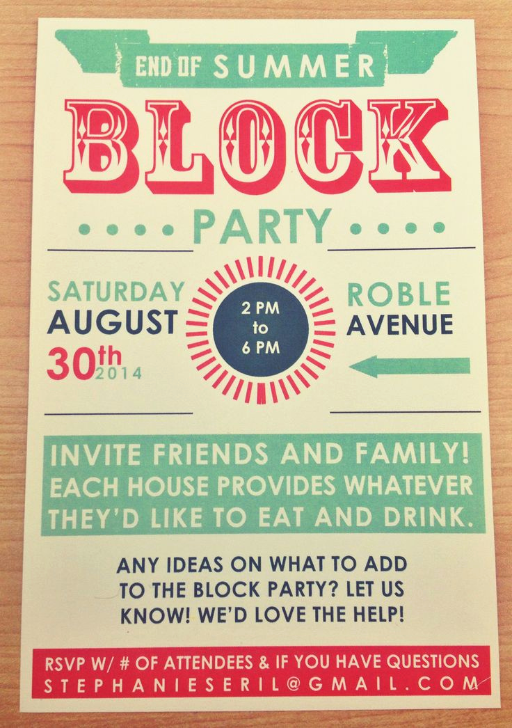 Neighborhood Block Party Invitation Elegant Best 25 Block Party Invites Ideas On Pinterest