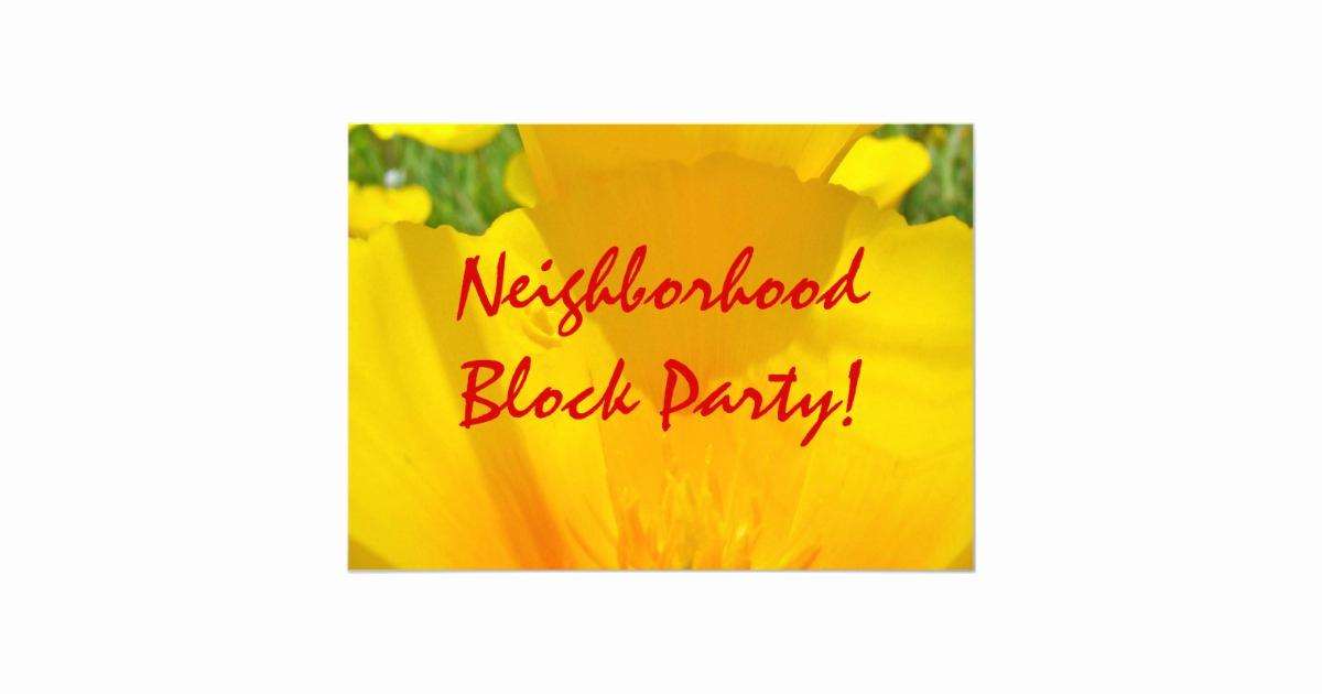 Neighborhood Block Party Invitation Lovely Neighborhood Block Party Invitations Annoucements