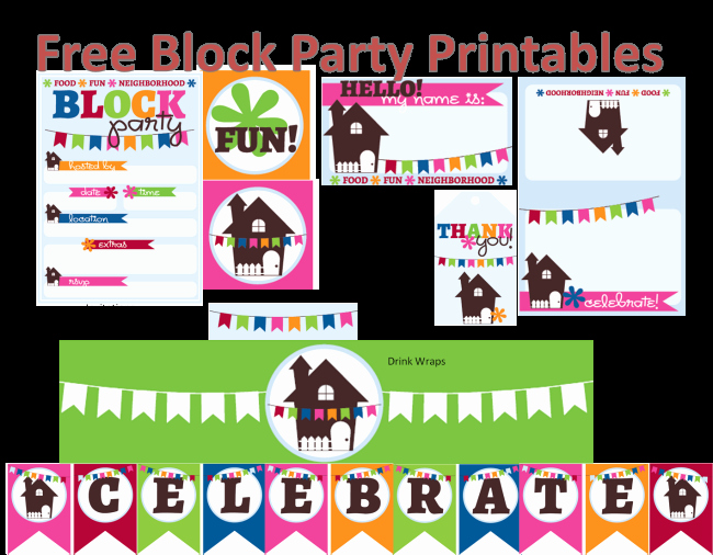 Neighborhood Block Party Invitation Lovely Neighborhood Block Party Printables Free