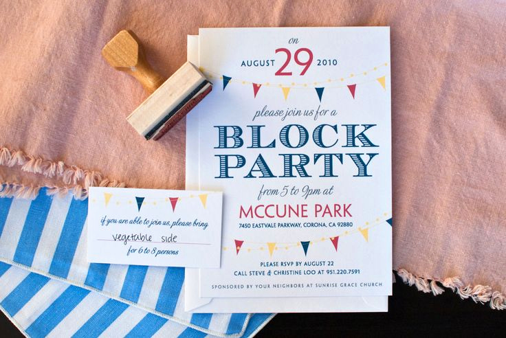 Neighborhood Block Party Invitation Luxury 37 Best Images About Block Party On Pinterest