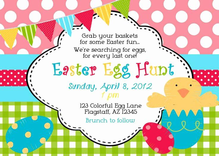 Neighborhood Party Invitation Wording Beautiful Easter Egg Hunt Invitation Wording