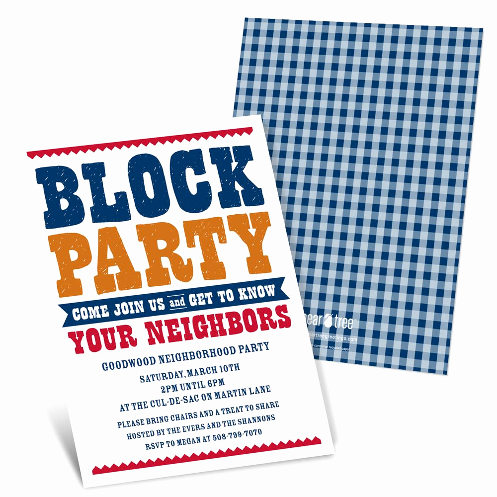 Neighborhood Party Invitation Wording Inspirational Giddy with Gingham