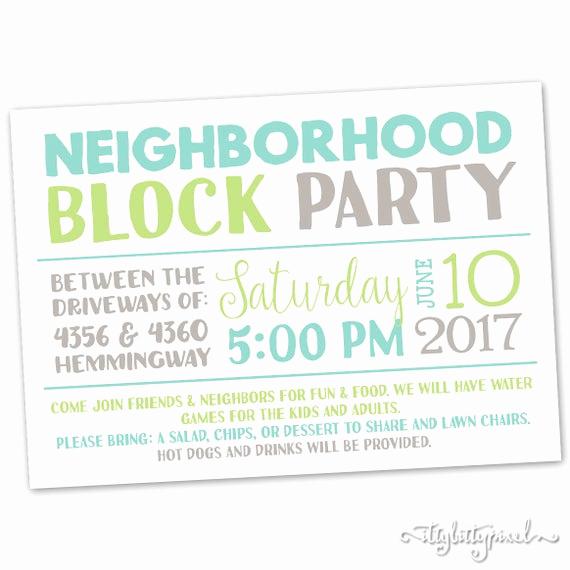 Neighborhood Party Invitation Wording Inspirational Neighborhood Block Party Invitation Announcement Invite Card