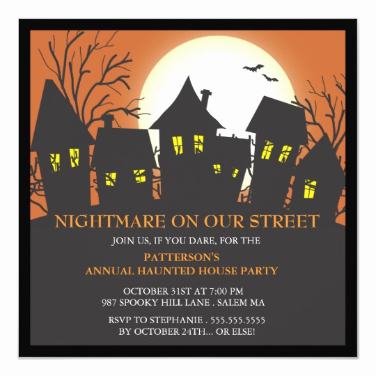 Neighborhood Party Invitation Wording Lovely Spooky Monster & Friends Halloween Costume Party