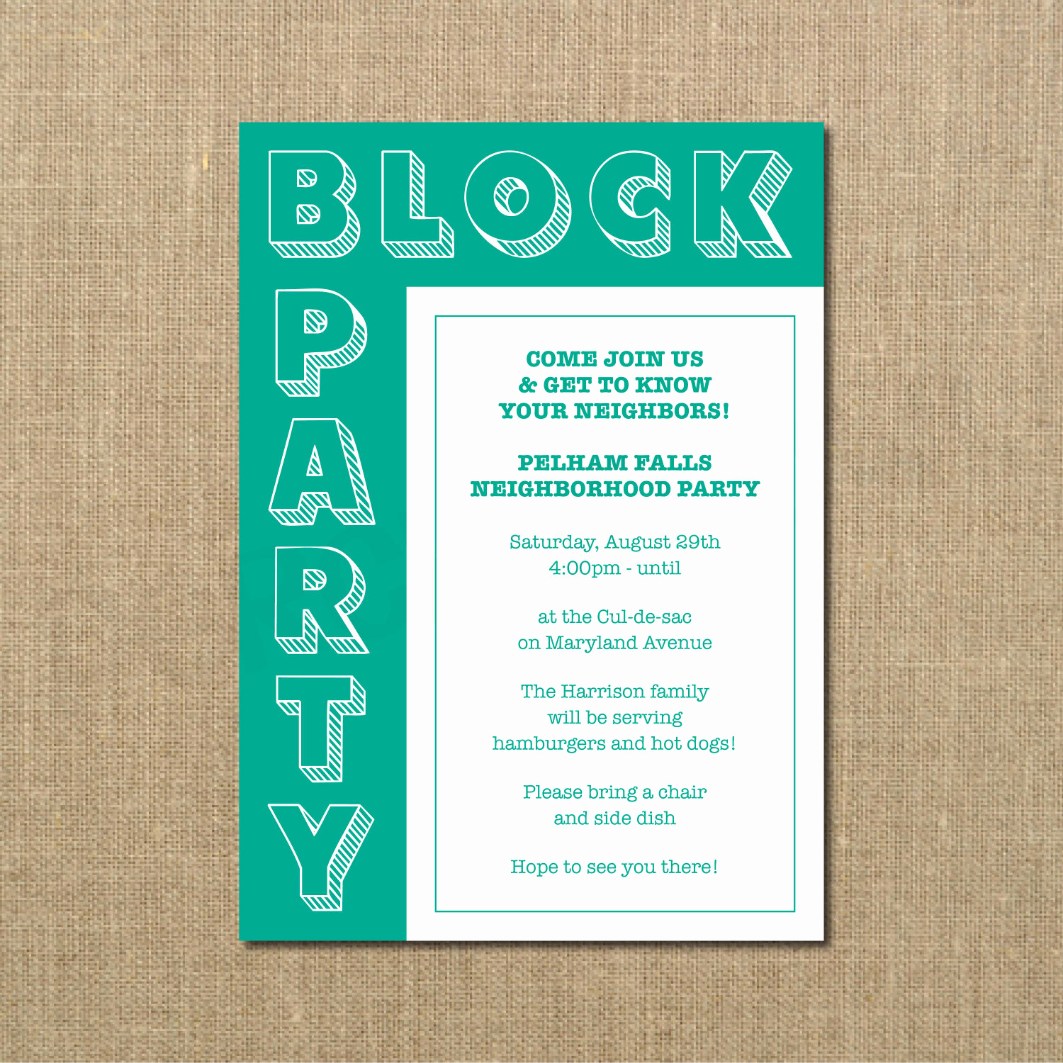 Neighborhood Party Invitation Wording Luxury Neighborhood Block Party Cookout Invitation Grilling Out