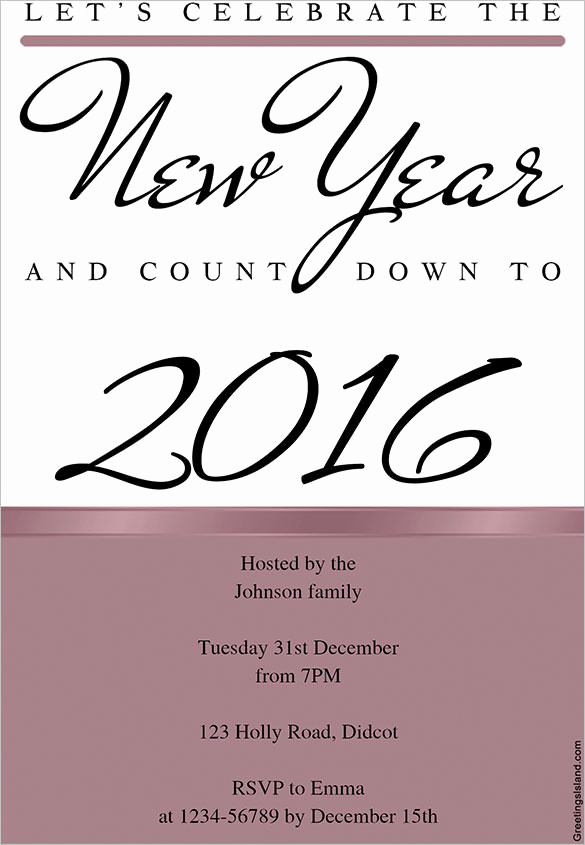 New Year Invitation Template Beautiful 28 New Year Invitation Templates – Free Word Pdf Psd
