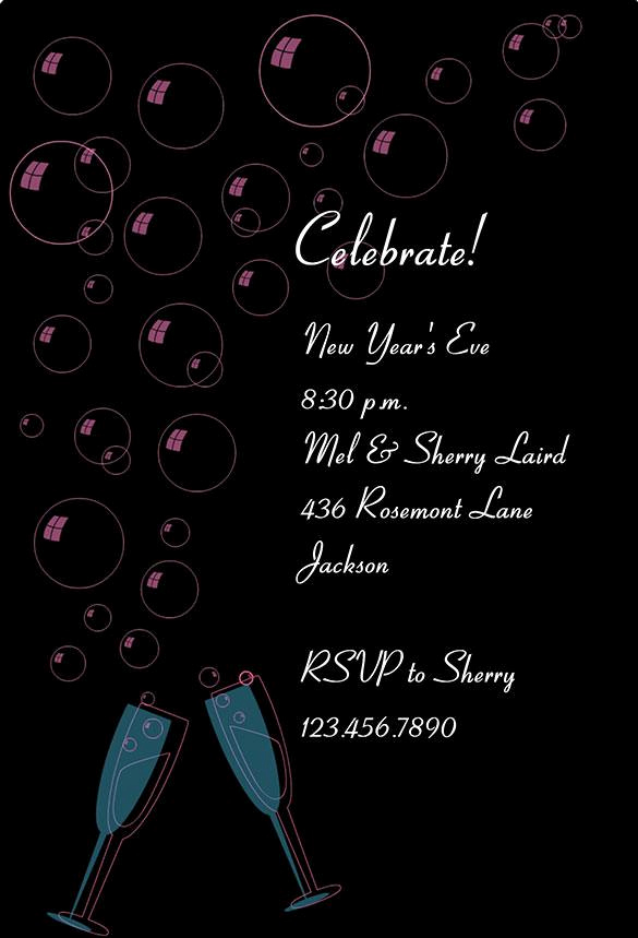 New Year Invitation Template Best Of 16 New Year Invitation Templates Free Download