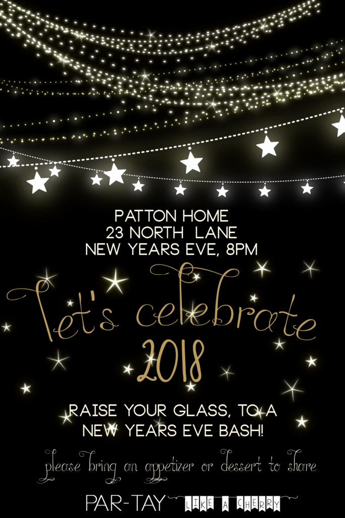New Year Invitation Template Inspirational Free New Years Party Invitation Party Like A Cherry