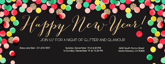 New Year Invitation Template Inspirational Invitations Free Ecards and Party Planning Ideas From Evite