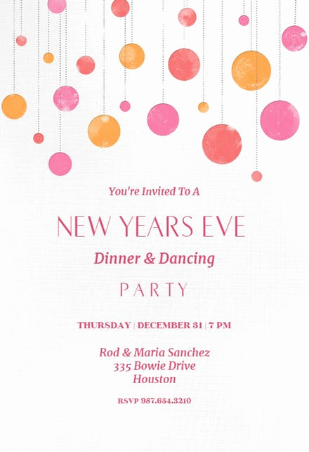 New Year Invitation Template Inspirational New Year S Eve Invitation Templates Free
