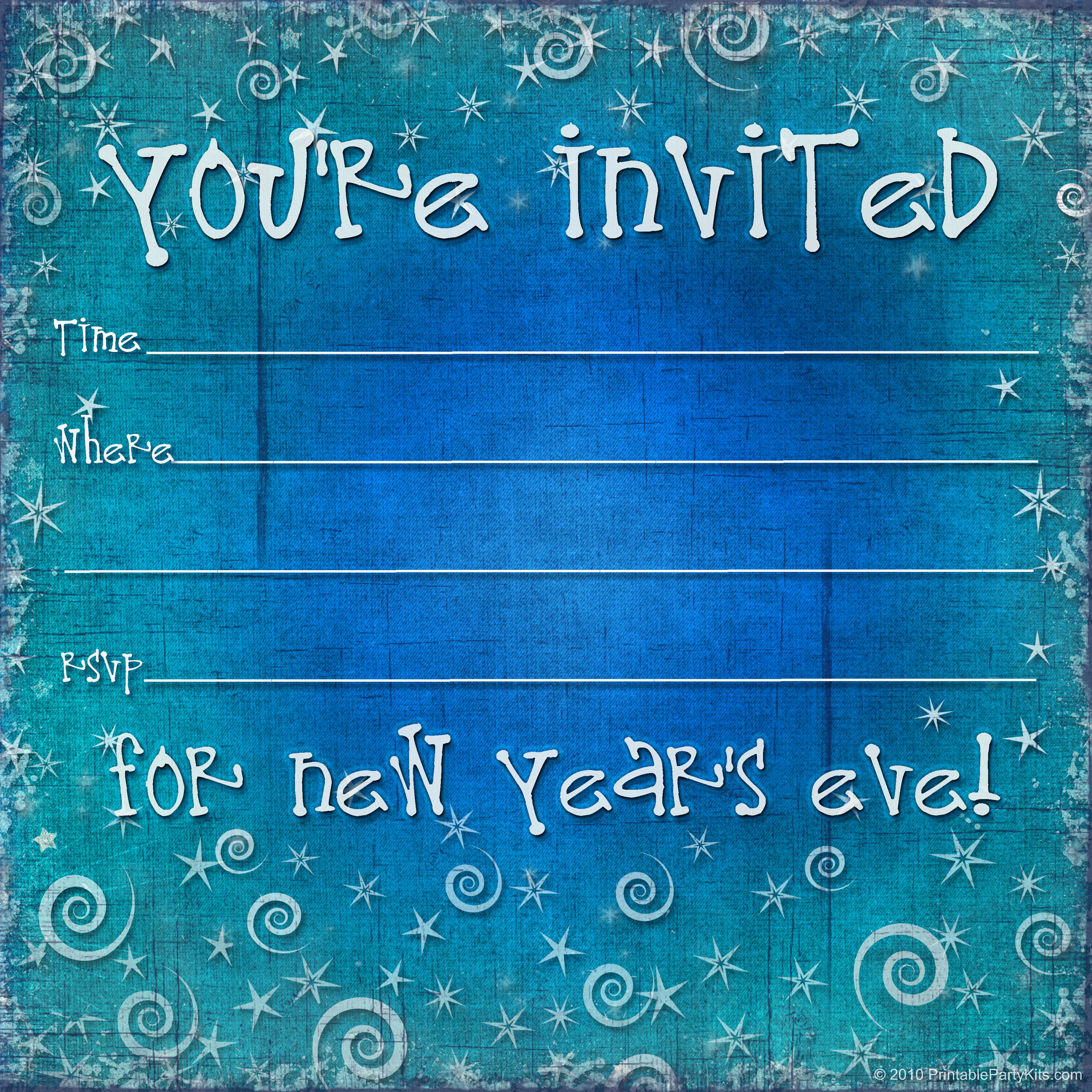 New Year Invitation Template Lovely Free Printable New Years Eve Party Invitation Template
