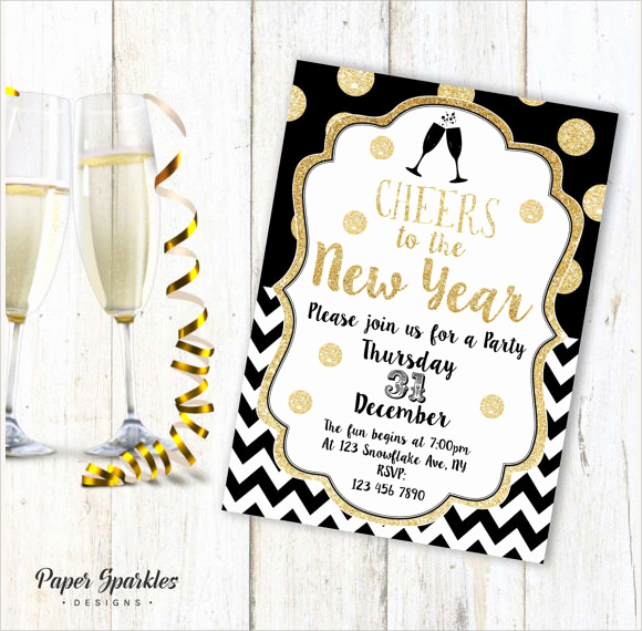 New Year Invitation Template Luxury Sample New Year Invitation Templates 24 Download