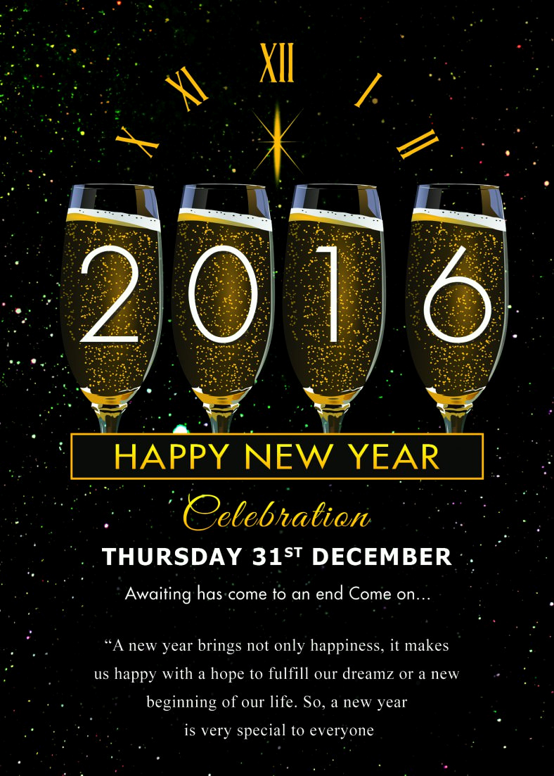 New Year Invitation Template Unique 30 New Year Greeting Card Templates Free Psd Eps Ai