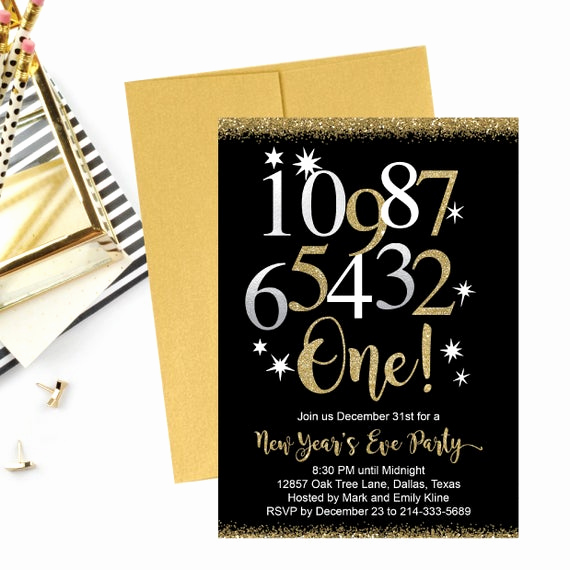 New Year Invitation Template Unique New Year S Eve Party Invitation Template Elegant Black