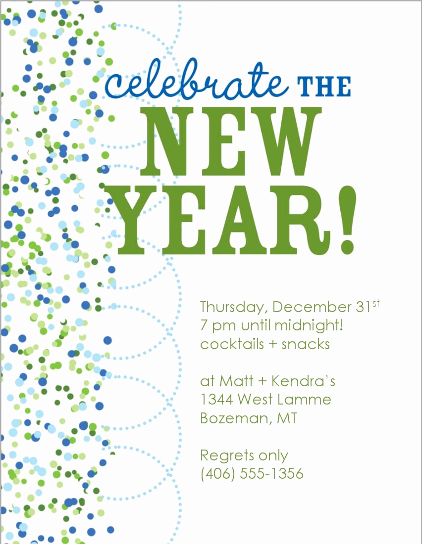New Year Invitation Template Unique New Years Eve Invitations Free