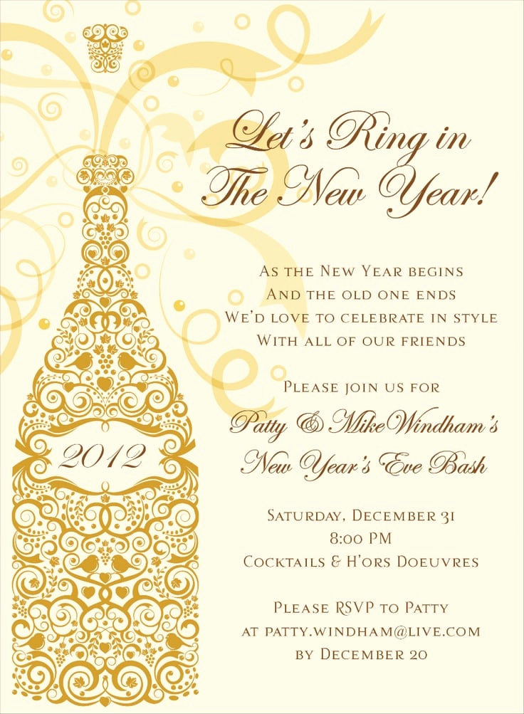 New Year Invitation Wording Best Of New Year S Eve Invitation