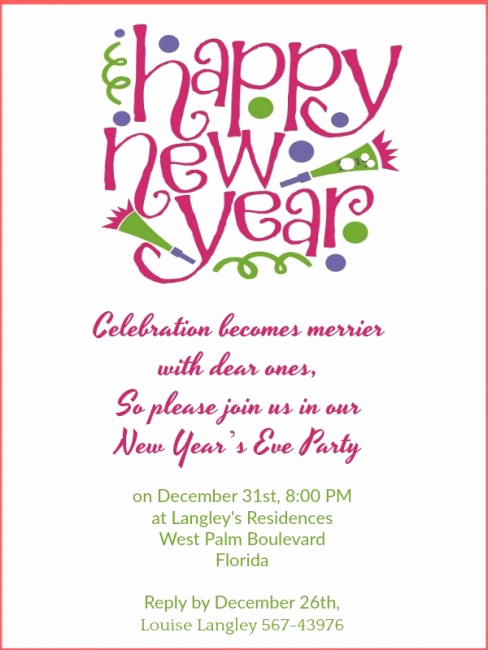 New Year Invitation Wording Inspirational New Year Party Invitation Wording 365greetings