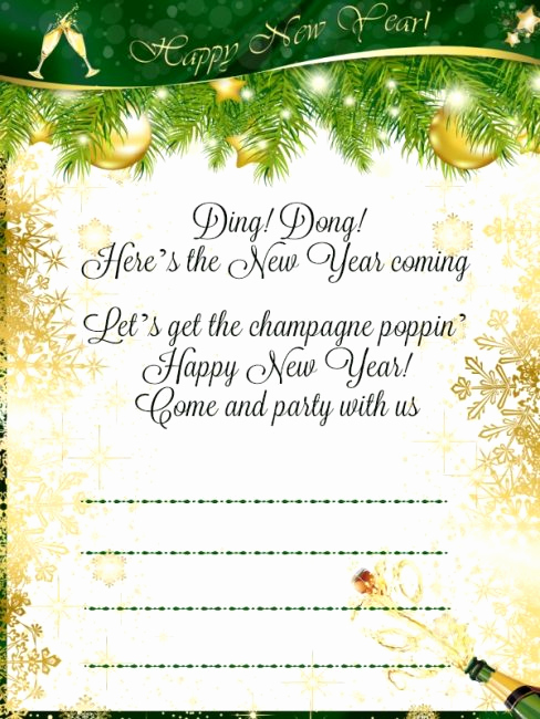 New Year Invitation Wording Lovely New Year Party Invitation Wording 365greetings