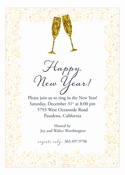 New Year Invitation Wording Luxury New Years Wording Ideas and Sample Text Polka Dot Design