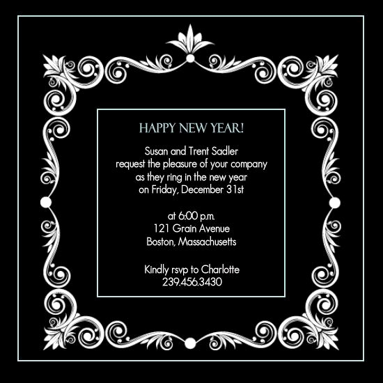 New Year Invitation Wording New New Years Party Invitation by Purpletrail New Years