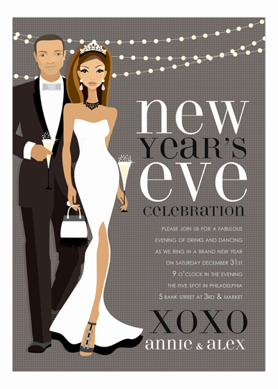 New Year Invitation Wording New New Years Wording Ideas and Sample Text Polka Dot Design