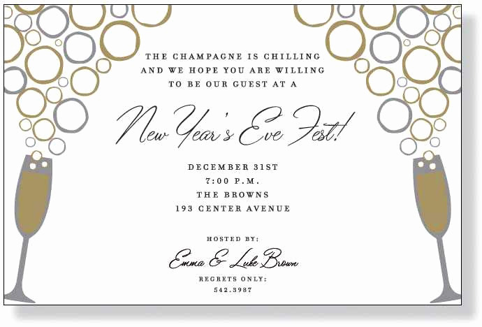 New Year Invitation Wording New Nye Party Invitation
