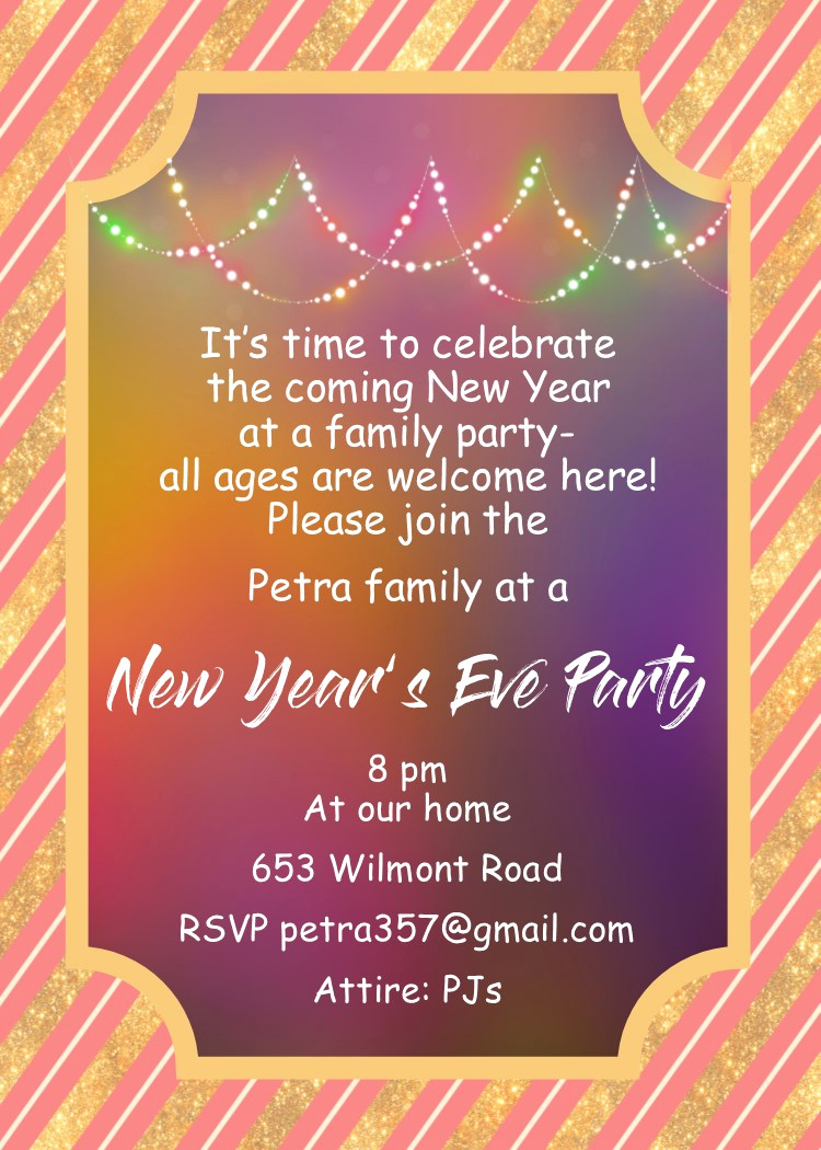 New Year Party Invitation Beautiful New Year S Eve Party Invitations 2018