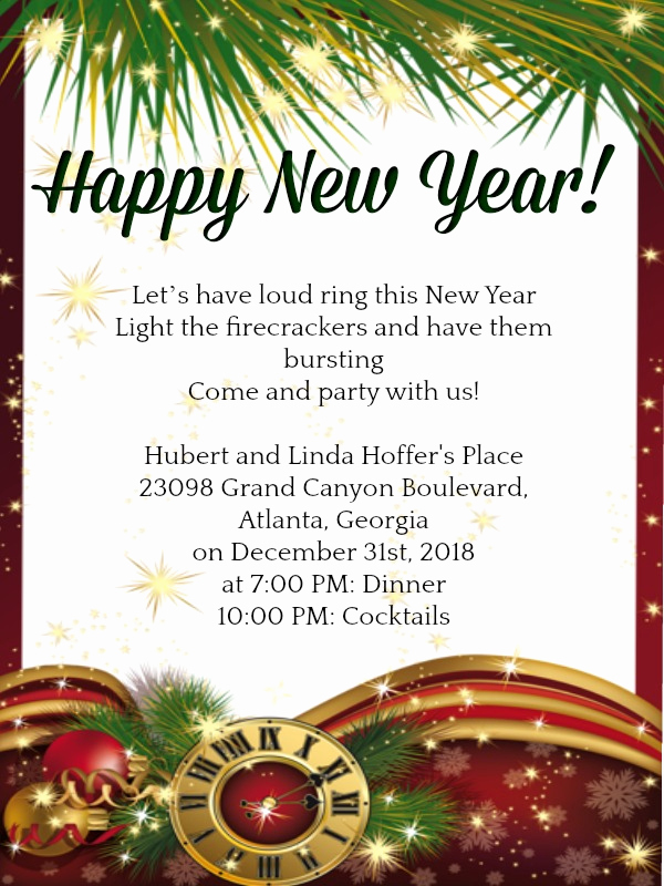 New Year Party Invitation Best Of New Year Party Invitation Wordings 365greetings