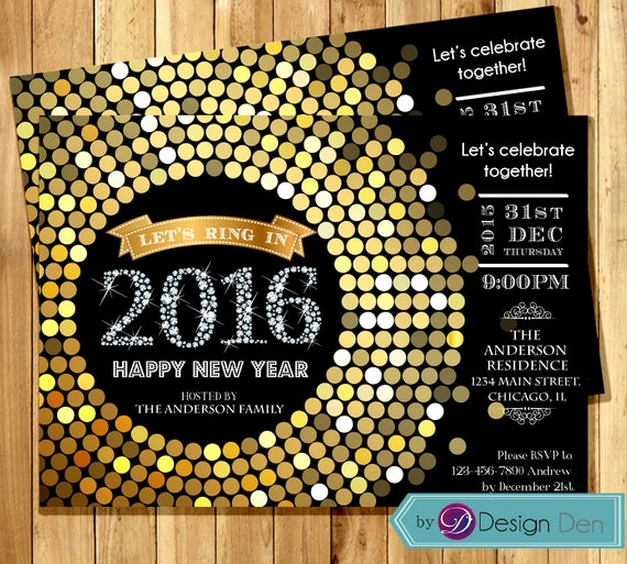 New Year Party Invitation Elegant 2016 New Years Eve Party Invitations • Glitter N Spice