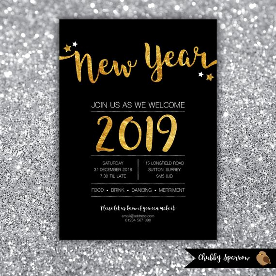 New Year Party Invitation Elegant New Year S Eve Party 2018 2019 Invitation Christmas