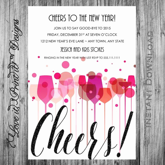 New Year Party Invitation Elegant New Year S Eve Party Invitation Diy Template Cheers New