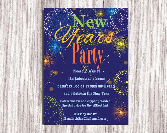 New Year Party Invitation Elegant New Years Party Invitation Party Invitation New Years Eve
