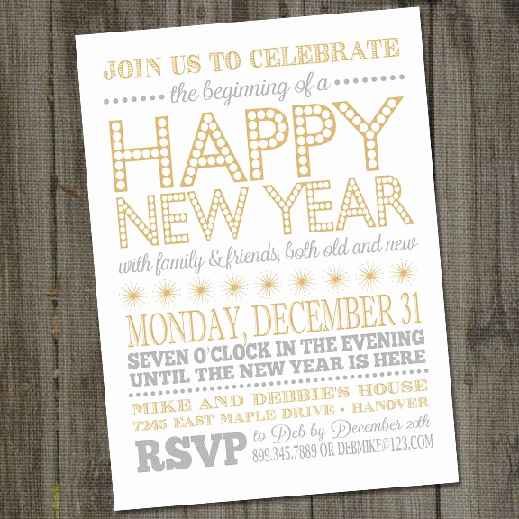 New Year Party Invitation Fresh New Years Invitation Printable 2018 New Years Invitation New