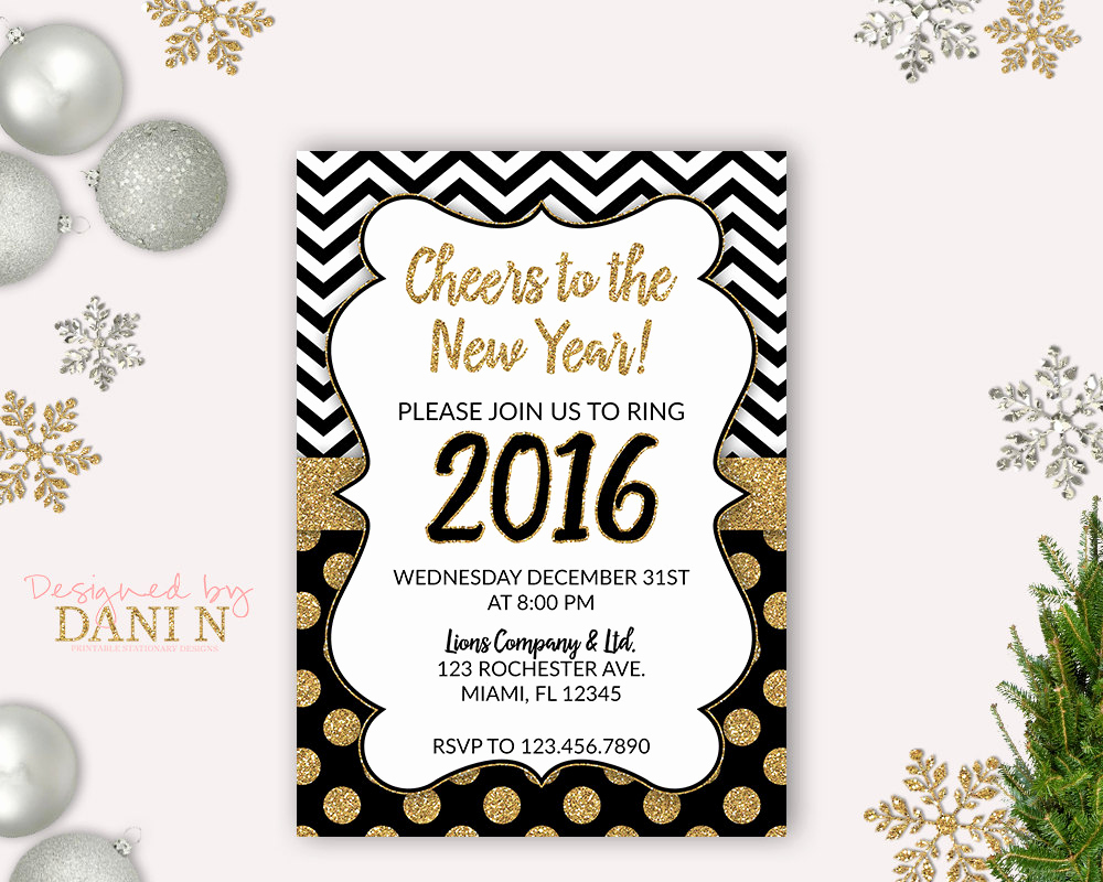 New Year Party Invitation Inspirational New Years Eve Party Invite 2016 Holiday Invitation Cheers