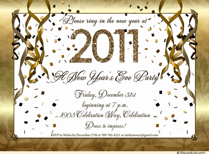 New Year Party Invitation Lovely New Year Invitation Template