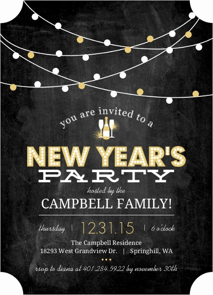 New Year Party Invitation Luxury Family New Year S Eve Party